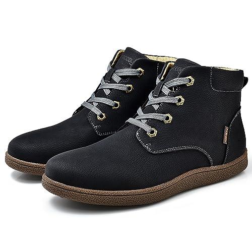 gracosy Zapatos Senderismo Hombres,2019 Al Aire Libre Zapatillas de Deporte Zapatos Antideslizantes a Prueba de Agua Invierno Botas de Nieve Cuero Gamuza ...
