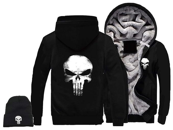 Amazon.com: 1Bar The Punisher - Sudadera con capucha para ...