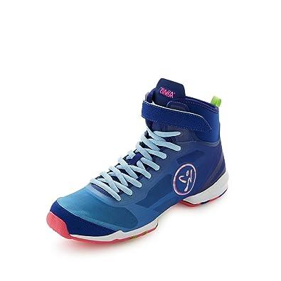 Amazon.com | Zumba Womens Flex II High Top Shoes Blue/Pink Size 7 M US | Ballet & Dance