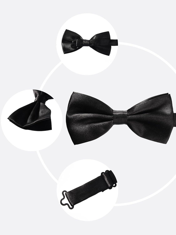 Sumind Uomo Pre-legato Papillon Cravatte Abito da Sera Papillon Regolabile Collo Papillon Formale per Feste