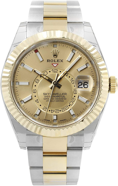 Rolex Oyster Perpetual Sky-Dweller Champagne Dial reloj automático de los hombres 326933CSO