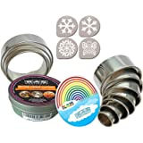 K&S Artisan Heavy Duty Biscuit Cutter set 11 100% Stainless Steel Circle Cookie Cutters Round for Pastry Donuts & Scone…