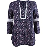 Tommy Hilfiger Womens Lace Detail Bell Sleeve...