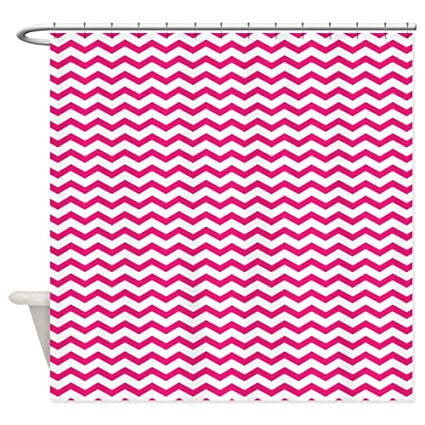 Image Unavailable Not Available For Color CafePress Hot Pink Chevron Shower Curtain
