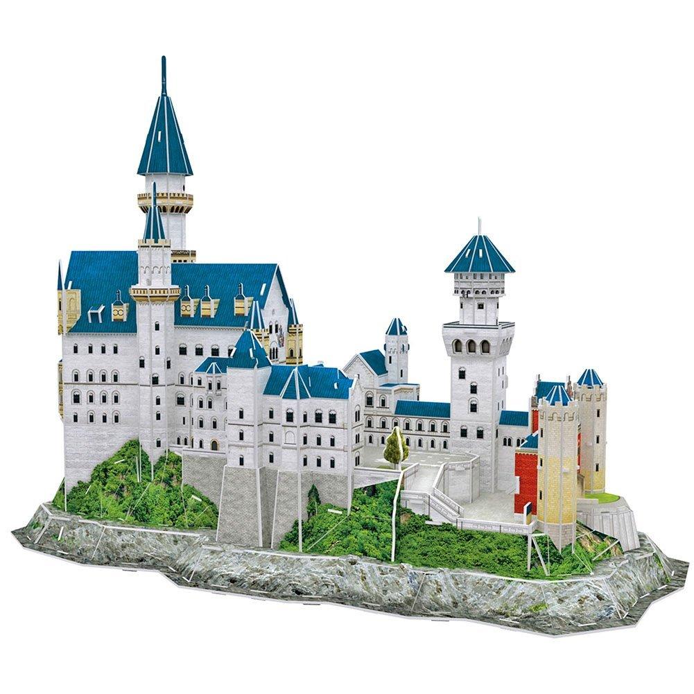 CubicFun World's Great Architectures MC062h Germany Neuschwanstein Castle 3d Puzzle, 121 Pieces Varios