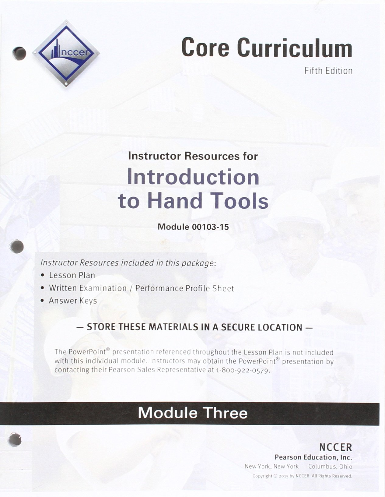 00103 15 Introduction To Hand Tools Instructor Guide Nccer
