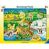 Ravensburger - 06052 - Puzzle Cadre - Visiteau Zoo - 14 Pièces