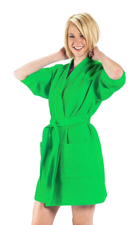 Robesale Women's Thigh Length Kimono Robe