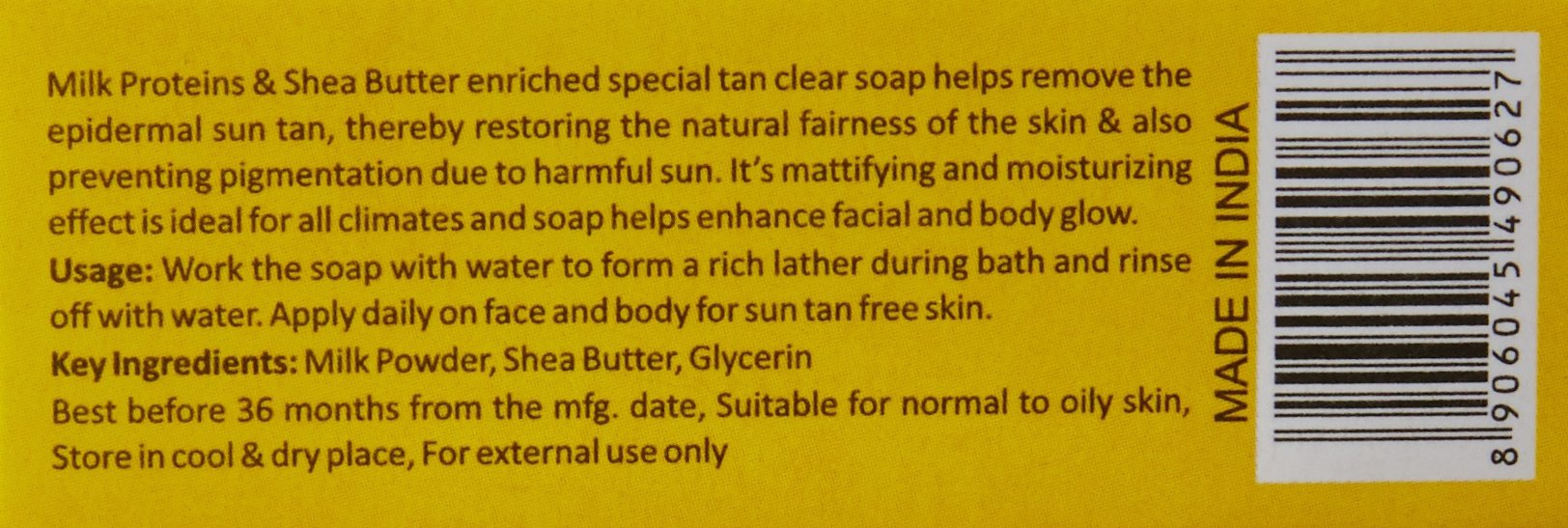 Nature's Essence Lacto Tan Clear Fairness Soap 75g by Nature's Essence (Image #2)