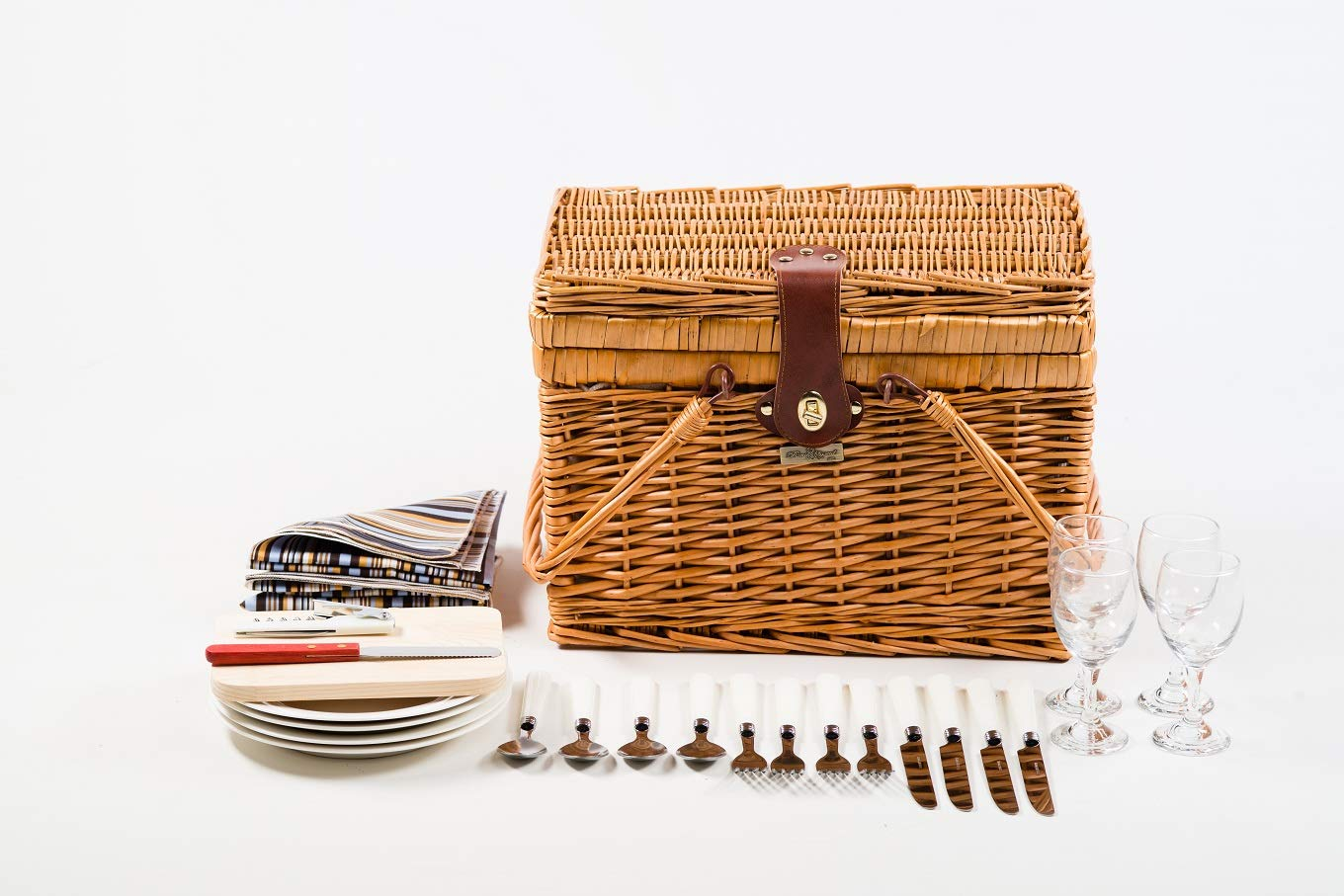Willow Picnic Basket (Brown)
