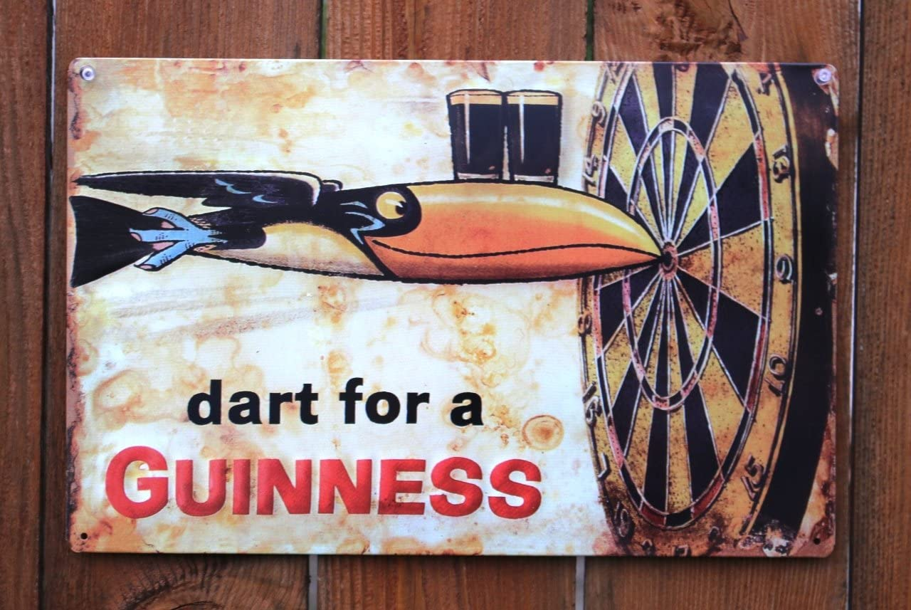 Guinness - Dart Metal Beer Sign (17