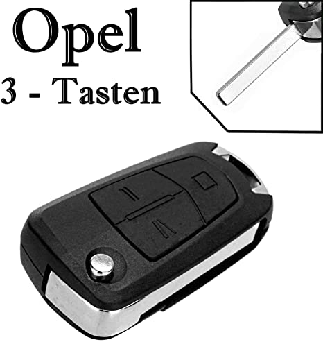 Opel Schlüssel Gehäuse Fernbedienung Klappschlüssel 3 Tasten Ks02 Astra H Corsa D Meriva Signum Vectra C Zafira B Auto