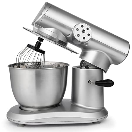 Stand Mixer, 650W Electric Food Mixer with 6-Speed Control, 5.5L Stainless Steel Bowl and 3 Additional Attachments – Flat Beater, Dough Hook and Wire Whip US STOCK