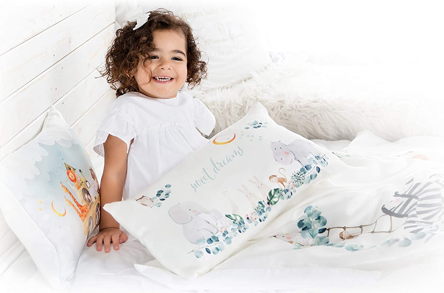 Toddler Pillowcase 100/% Natural Silk Hypoallergenic Soft Kids Pillow Cover 13x18 Skin and Hair Benefits Blue