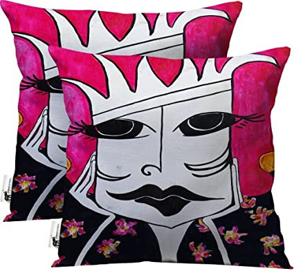 Bohemian Throw Pillows   Set Of 2   Pink Magenta Artsy Furniture Pillows |  UBU Republic