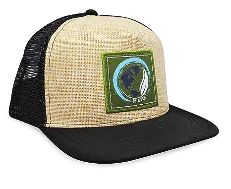 823a40ea0effd8 Image Unavailable. Image not available for. Color: Mato Trucker Hat Flat  Brim Snapback Net Mesh Baseball Cap Black