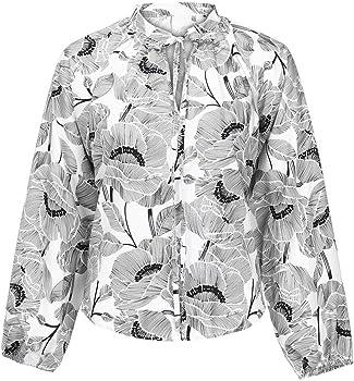 Camiseta para mujer de Böhmen Hawaii, camisa con estampado de flores, camiseta de manga larga, cuello en V, blusa blanca y negra, parte superior elegante, ropa de calle, punk, playa, fiesta, camiseta,