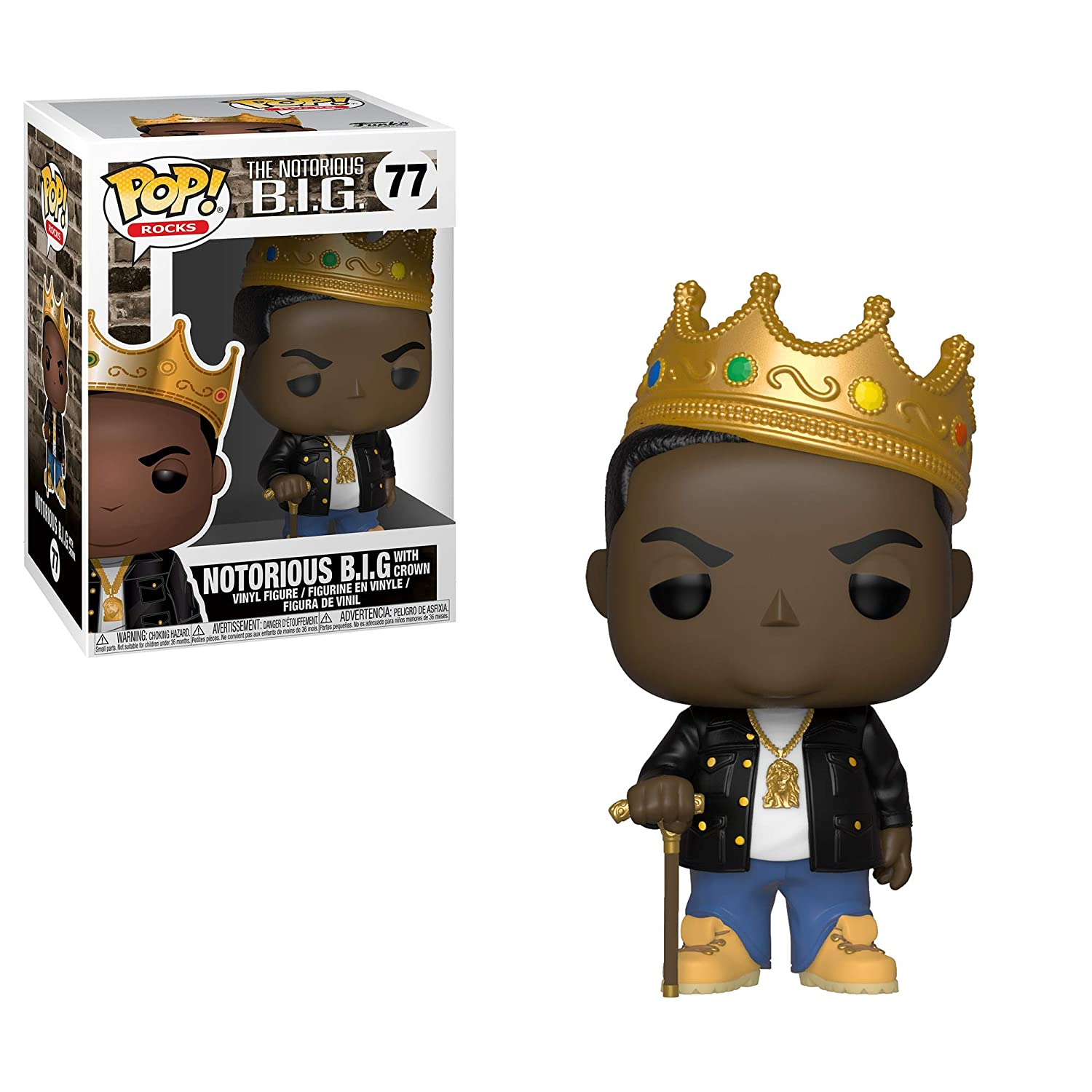 Multicolor Notorious B.I.G with Crown Collectible Figure Funko Pop Rocks: Music