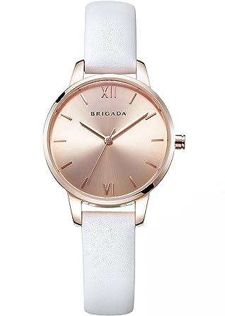 Amazon.com  Nice Fashion Rose Gold White Ladies  Dress Quartz Wrist ... 11c9501bc34c