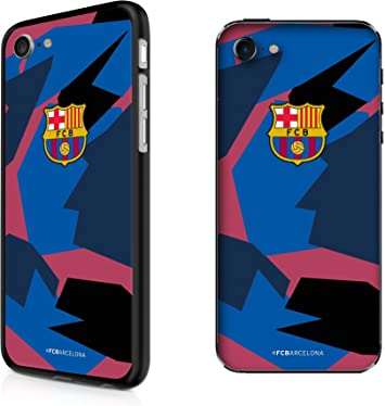 inToro Coque FC Barcelona anti-UV pour Apple iPhone 7/8, Ultra fine, Protection anti-rayures pour smartphone - Bleu