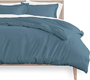 Bare Home Duvet Cover and Sham Set - King Size - Premium 1800 Ultra-Soft Brushed Microfiber - Hypoallergenic, Easy Care, Wrinkle Resistant (King, Coronet Blue)