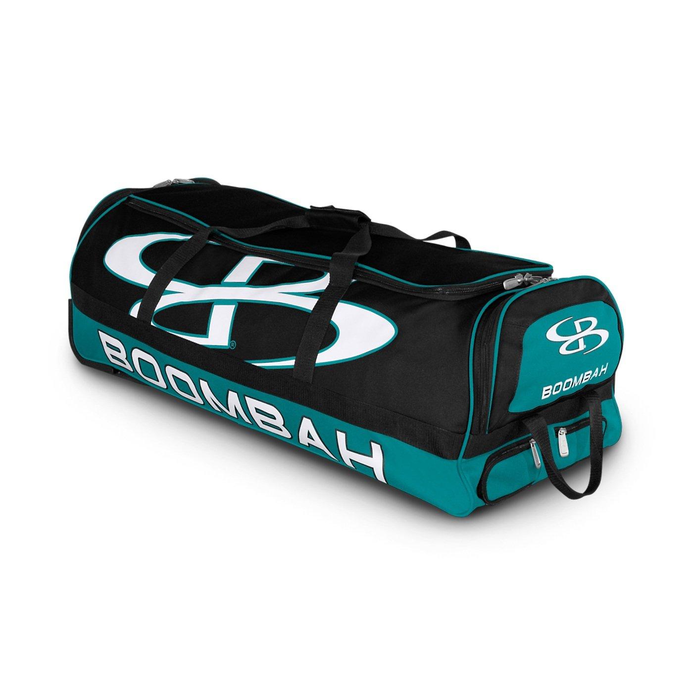 (ブームバー) Boombah Bruteシリーズ キャスター付きバットケース 野球ソフトボール用 35×15×12–1/2インチ 49色展開 4本のバットと用具を収納可能 B01MSSSPIU ブラック/ティール ブラック/ティール