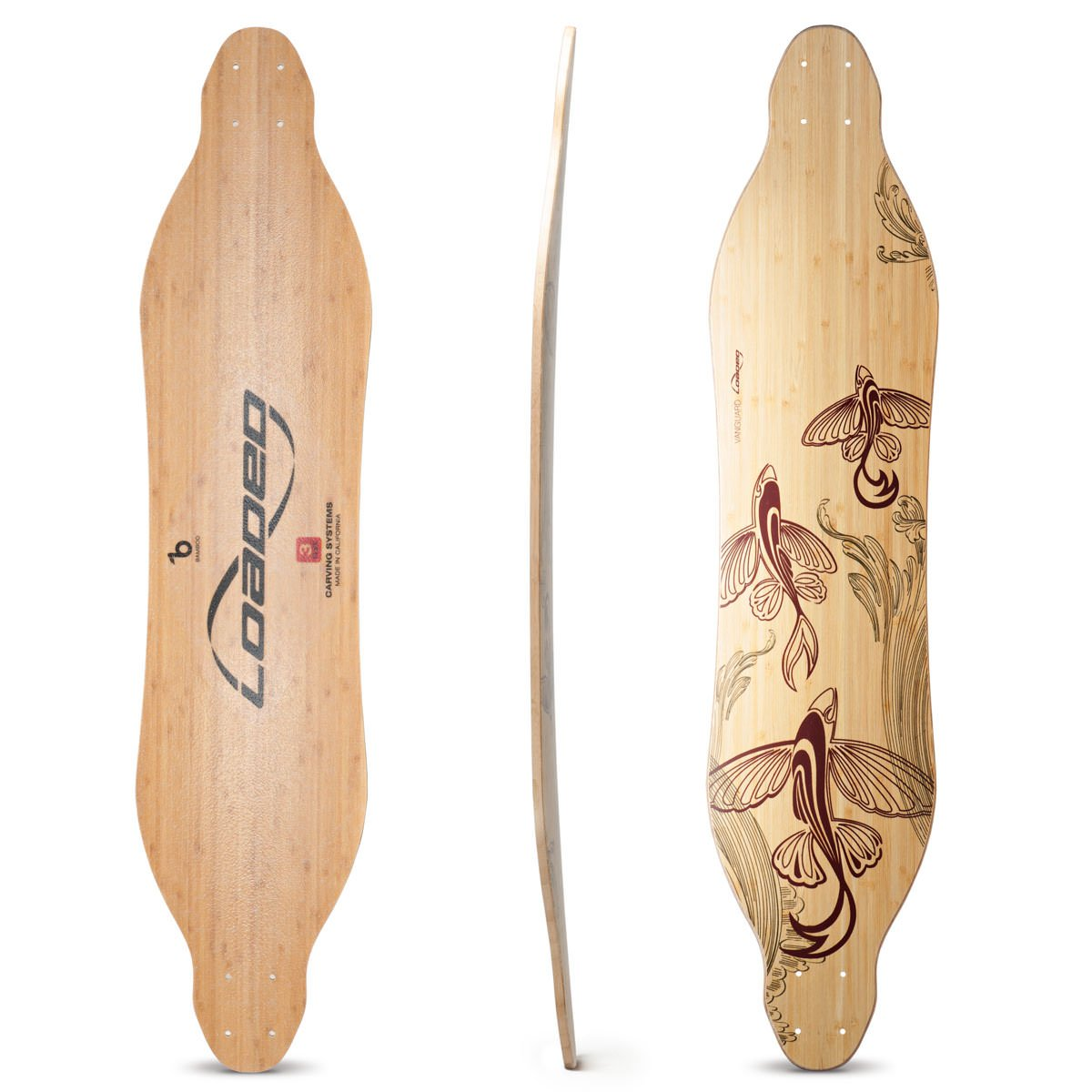 Loaded Boards Vanguard Bamboo Longboard Skateboard Deck (Flex 1)