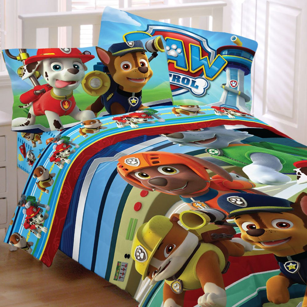 Paw Patrol 5pc Full Comforter and Sheet Set Bedding Collection