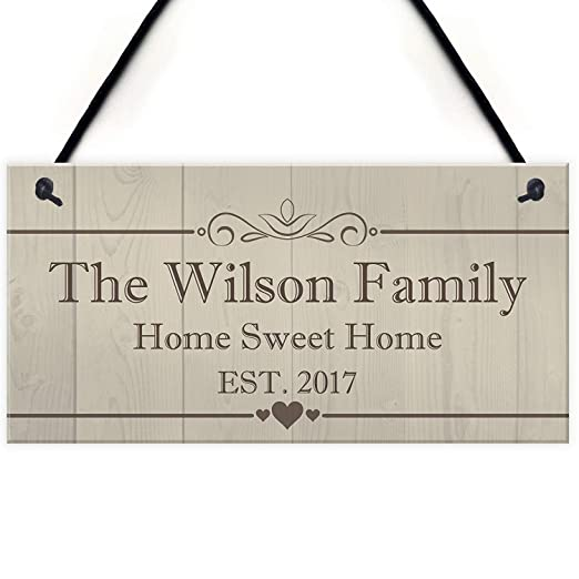Mr.sign The Wilson Family Cartel de Pared Madera Placa ...