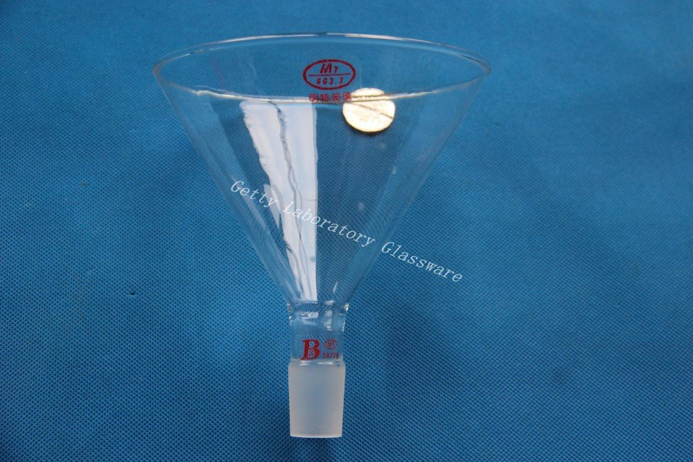 150ml Glass Powder Funnel, 120mm dia,with 24/29 standard joint Beijing Getty Laboratory Glassware Co.