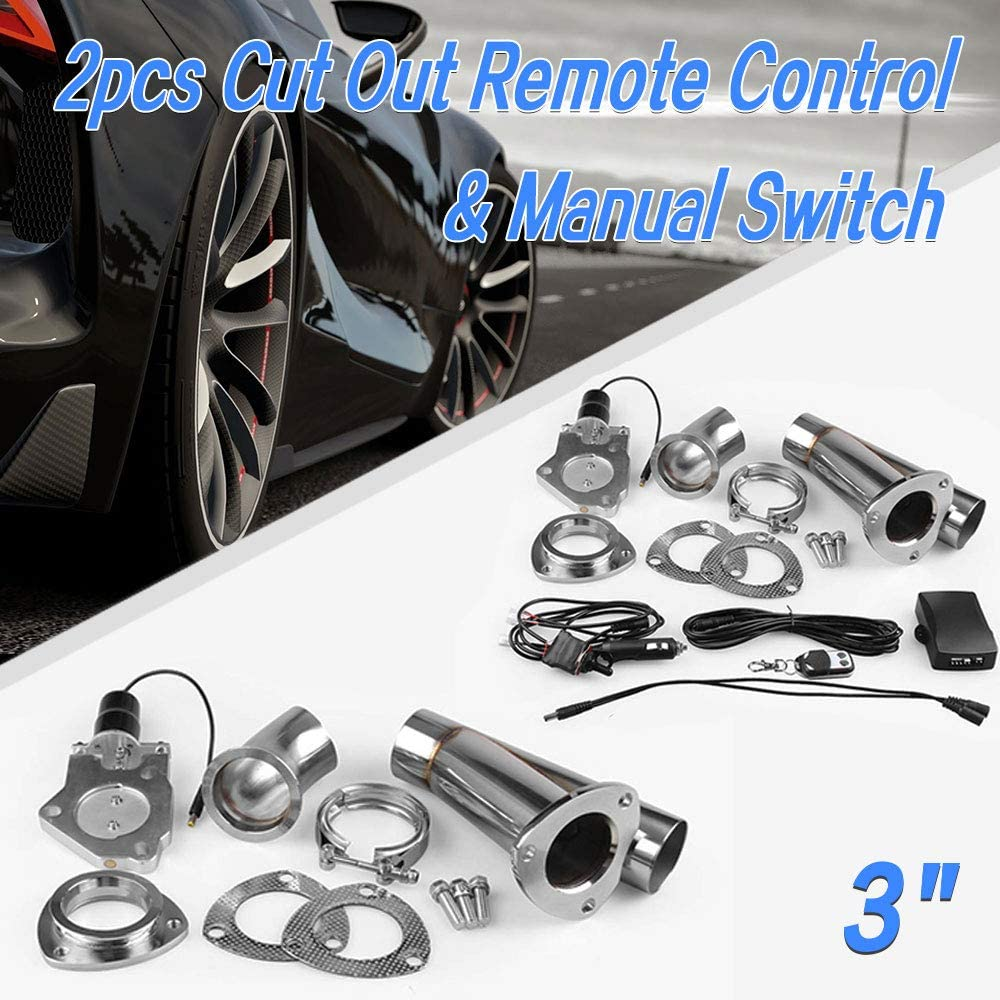 Universal Manual Switch For Exhaust Muffler Electric Valve Cutout System Dump Pipe Kit