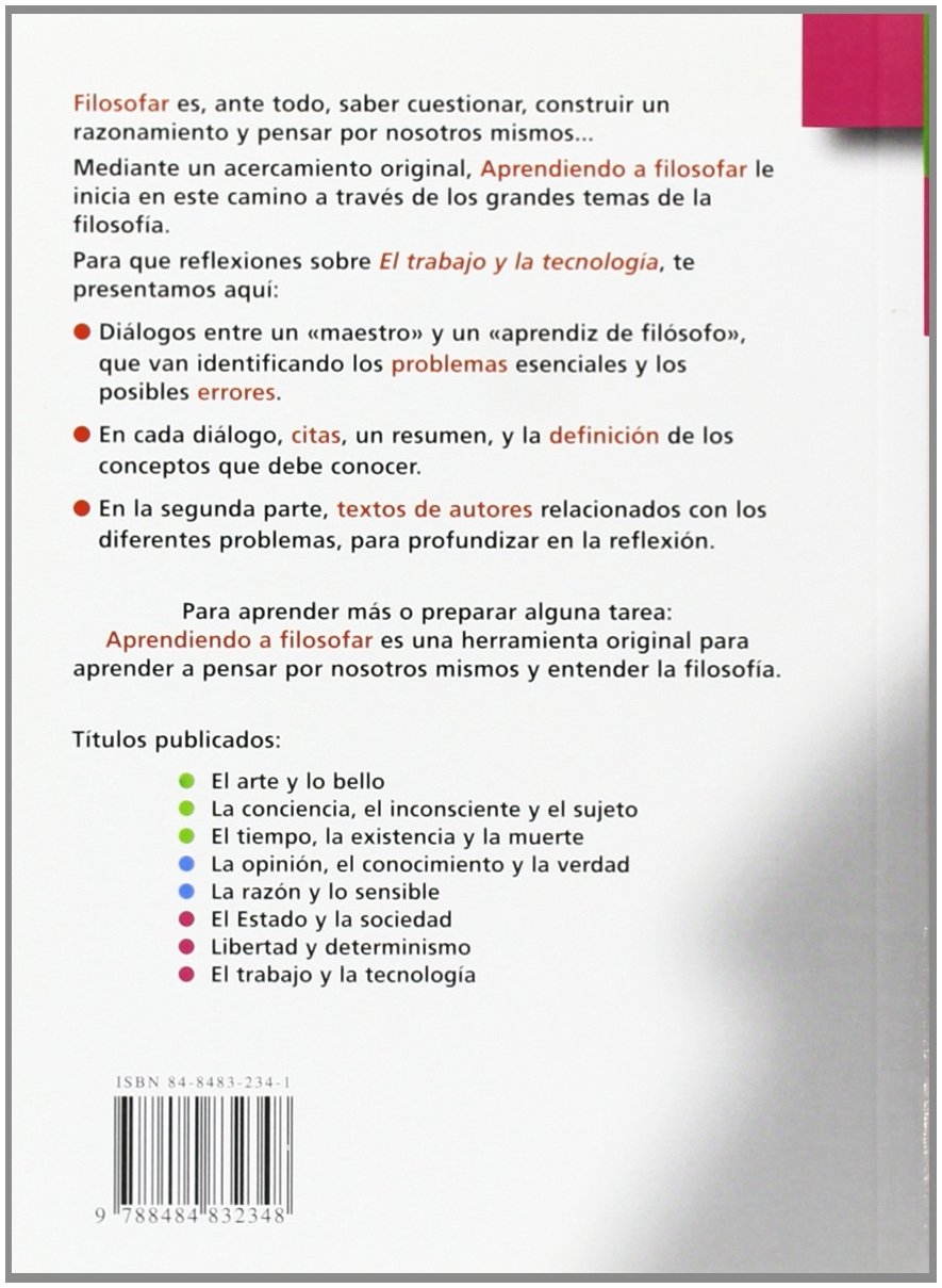 El trabajo y la técnica (Aprendiendo a filosofar): Amazon.es: Óscar Brenifer: Libros
