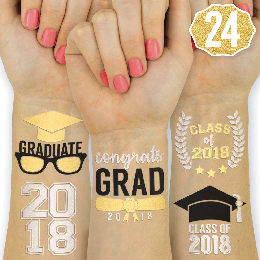 Amazon.com: Graduation Party Supplies 2018 - Class of 2018 Flash ...