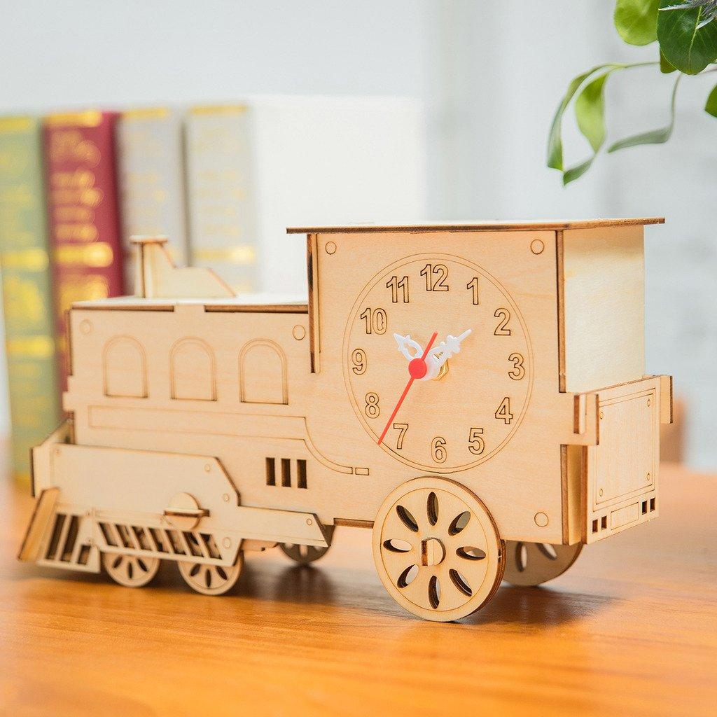 Weinsh 3DパズルDIY木造列車モデルのジグソーパズルの時計 B0727PVQB8、ホームクリエイティブな飾り物 Weinsh B0727PVQB8, 1個売りピアスの専門店 Can Lino:baac0be4 --- m2cweb.com