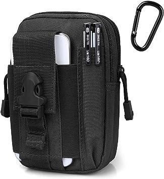 G4Free Tactical Molle Pouch Compact EDC Utility Gadget Waist Molle Bag Pack CCW Fanny Pack con Funda para Teléfono Celular para Correr Ciclismo ...