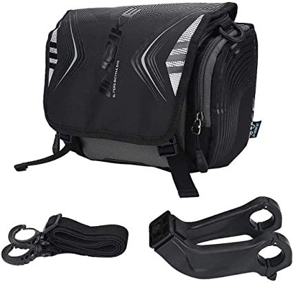 Bike Handlebar Bag Waterproof Front Bag Bicycle Storage Bag with Removable Shoul