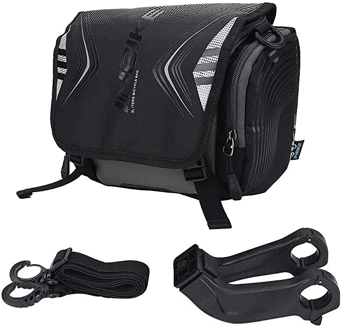 Bicycle Front Bags Waterproof Phone Pouch Case Tube Handlebar Cylinder Bag GA