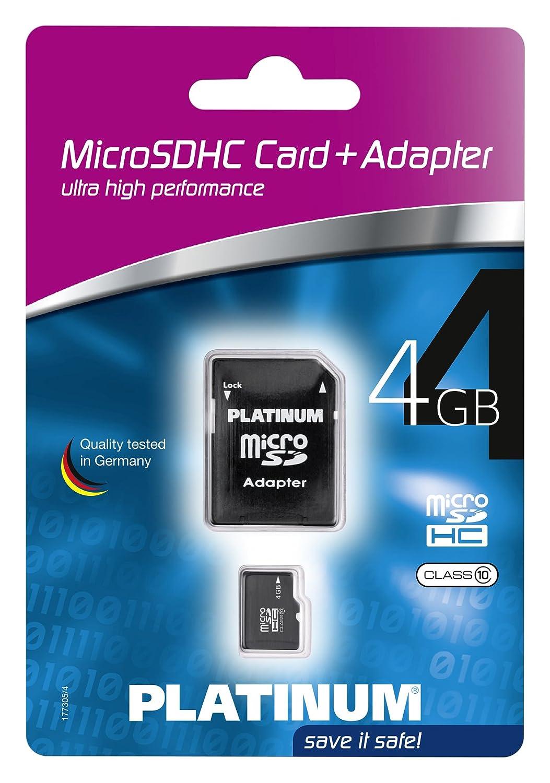 Platinum Class 10 Micro-SDHC 32GB Speicherkarte inkl SD Adapter schwarz