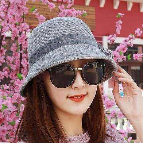 RangYR Sombrero De Mujer Sra. Cap Gorra De Primavera Y Verano Sombrero De  Sol Ocio 732430d23a2