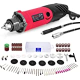 240W Rotary Tool Set, GOXAWEE Power Die Grinder Set with 1/4 Inch 3-Jaw Chuck (0.5-4 mm), 6 Step Variable Speed…