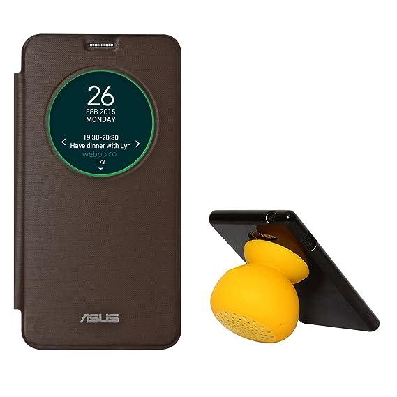 super popular d4aae 0ec92 DMG Smart Circle View Flip Book Cover Case For Asus Zenfone 2 (Brown ...