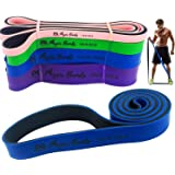 Physix Gear Pull Up Assist Bands - Best Heavy Duty Resistance Bands for Assisted Pullups, Muscle Toning, Stretching, Legs Glutes Crossfit Physical Therapy Pilates & Yoga - Improve Mobility & Strength