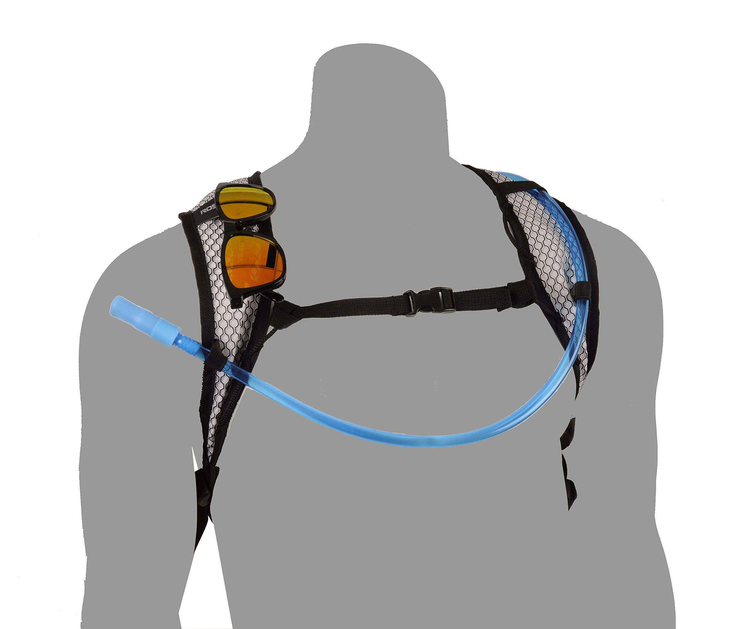 Roswheel 15937 Hydration Backpack with 2 L BPA Free Water Bladder, Green by Roswheel (Image #4)