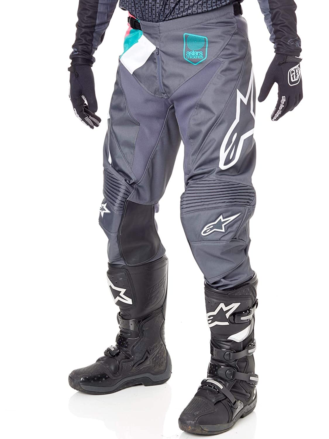 Alpinestars Vice Indianapolis Limited Edition Grey Racer Motocross Pants Adults 32
