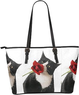 Interestprint Satchel Bag Rose Women Tote Shoulder Bags