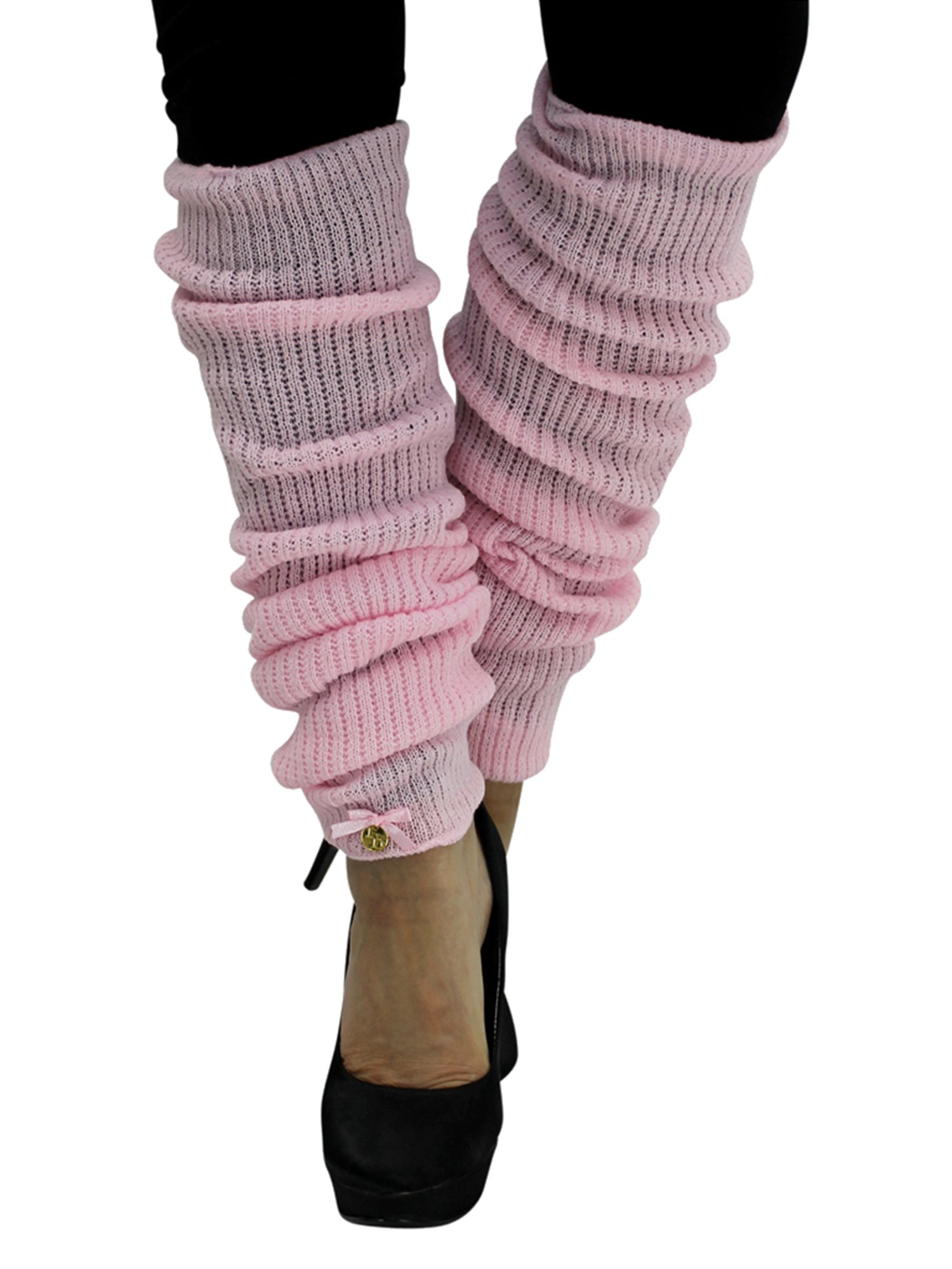 Pink Long Thick Knit Dance Leg Warmers by Luxury Divas (Image #1)