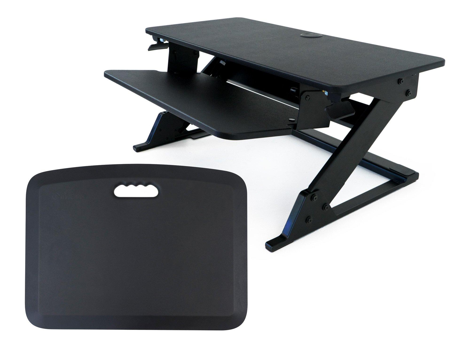 iMovR ZipLift Plus Standing Desk Converter with Ergonomic Tilting Keyboard Tray