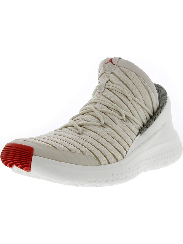 Nike Men's Jordan Flight Luxe Light Orewood Brown/University Red Ankle-High Fabric Basketball Shoe - 10M B0744FPNLL