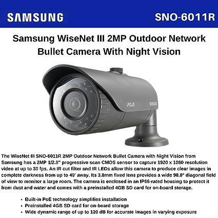 Samsung SNO-6011R Network Camera Windows 8 X64