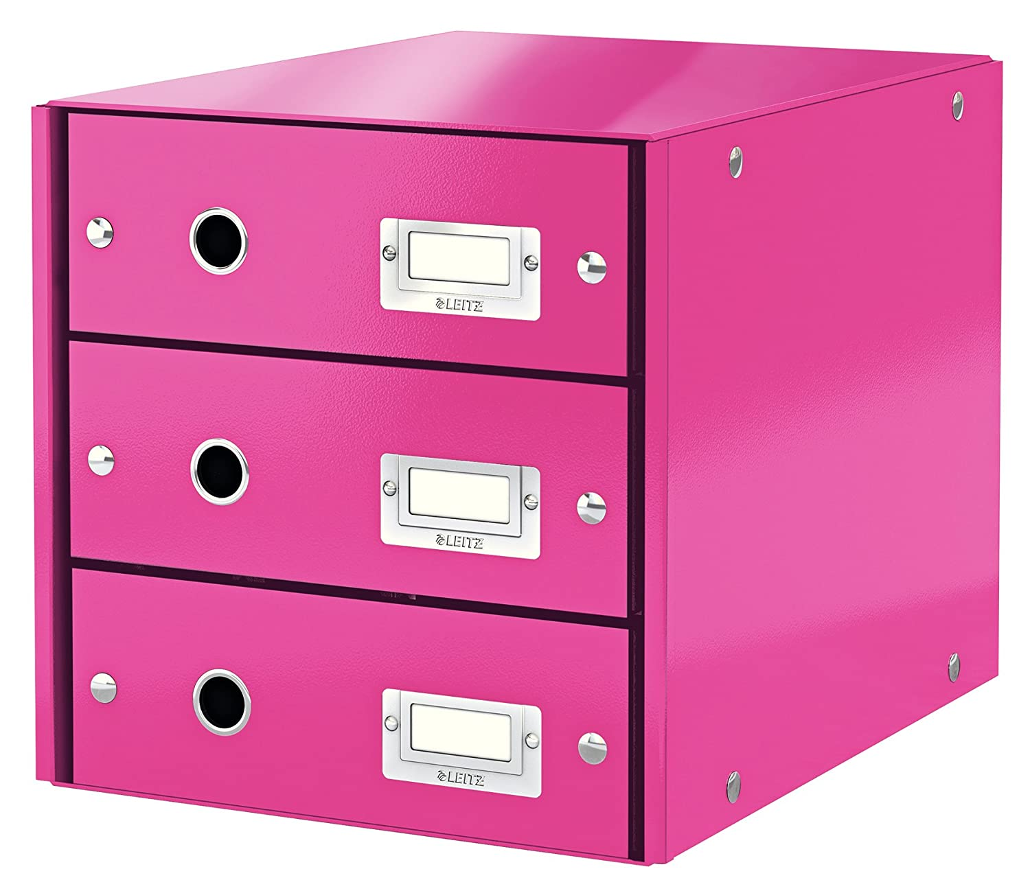 Click and Store Range 60490023 Leitz Drawer Cabinet A4 Pink 4 Drawers